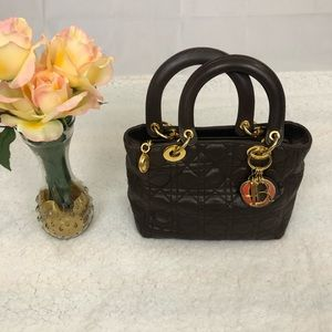 AUTHENTIC Christian Dior Cannage Tote Bag